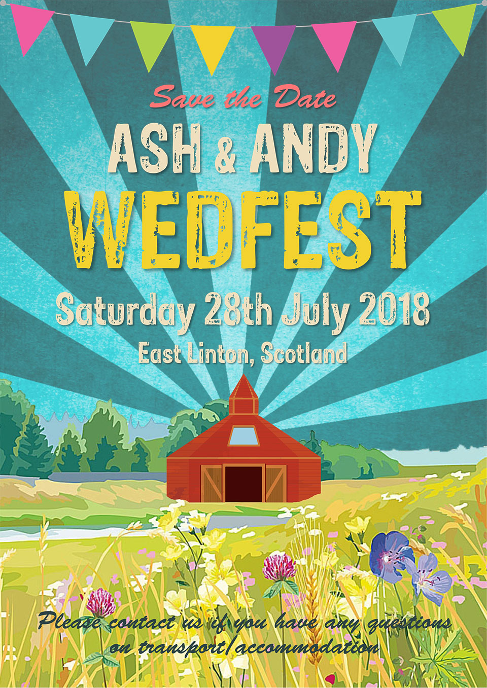 Poster design galway - Festival Style Wedding Invitation Poster