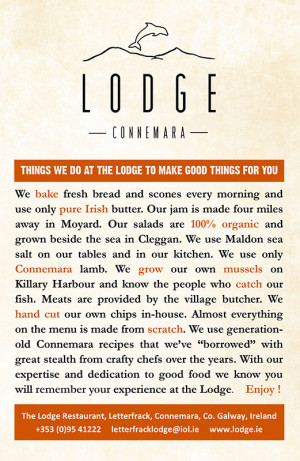 Lodge-Menu
