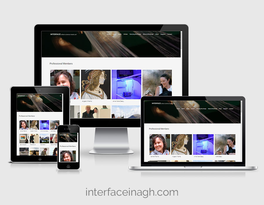 Website Design - Interface Inagh